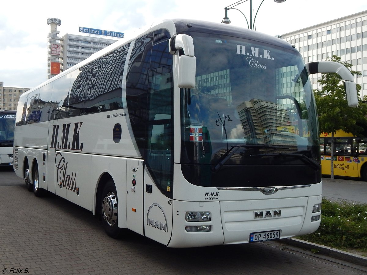 MAN Lion's Coach von HMK aus Norwegen in Berlin.