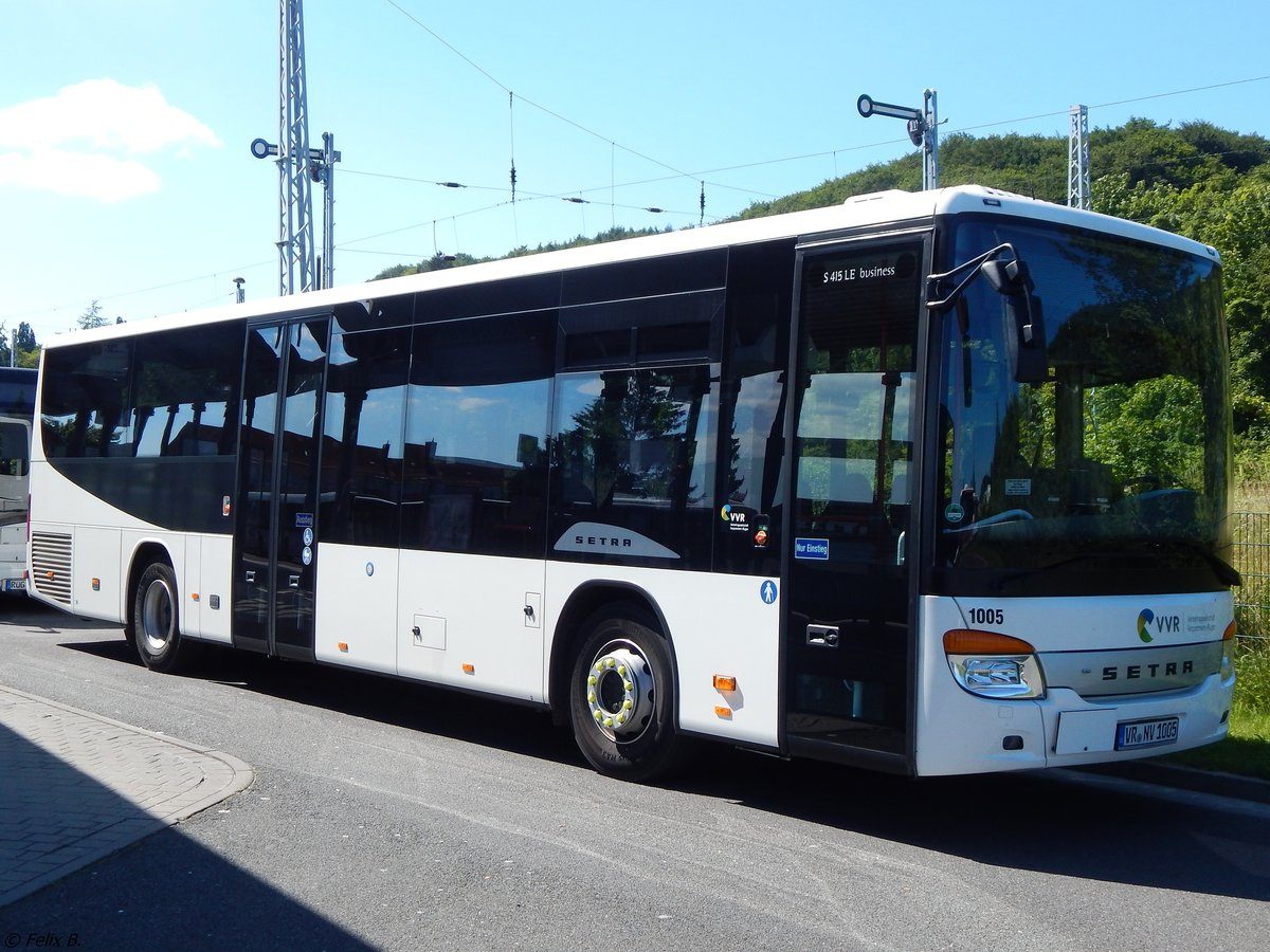 Setra 415 LE Business der VVR in Sassnitz.