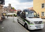 Mercedes-Benz Sprinter Panorama-Cabrio des Belvedere-Express in Weimar am 06.08.2016.