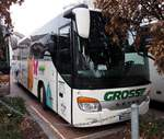 Setra S 415 GT von Gross international aus Heilbronn, Baden-Württemberg in Ulm am 17.12.2016.